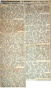 1930 01 06 Il Telegrafo Colligiana Juventus AR 3 a 2