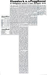1950 01 16 IlNuovoCorriere poggibobsi Colligiana 0 a 6