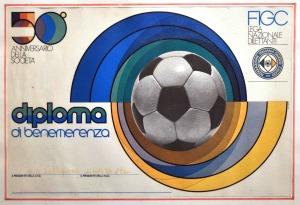 1972 DIPLOMA DI BENEMERENZA 50° ANNIVERSARIO