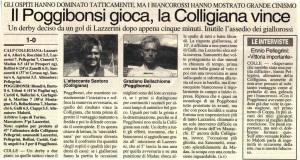 1998 11 16 La Nazione Derby 1 a 0
