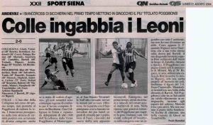 2006 08 21 LaNazione Colligiana poggibonsi 2 a 0