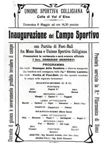 1923 INAUGURAZIONE CAMPO SPORTIVO