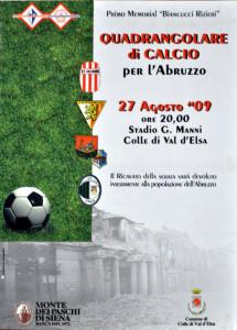 2009 08 27 Quadrangolare per l'Abruzzo