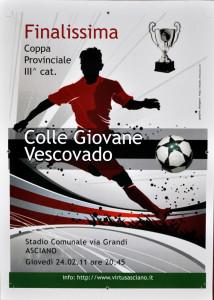 2011 02 24 Finale Coppa Provinciale Colligiana Vescovado 3 a 0 ad Asciano