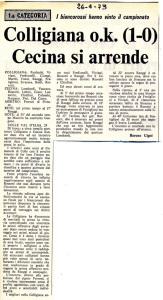 1973 04 26 Colligiana cecina 1 0