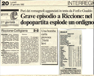 1992 01 25 Riccione Colligiana 2 a 2