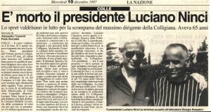 1997 12 10 La Nazione la morte di Luciano Ninci