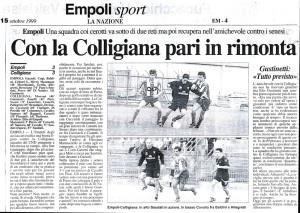 1999 10 15 LaNazione Empoli Colligiana 3 a 3