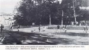 1923 05 06 Prima partita Colligiana Mens Sana 1 a 1