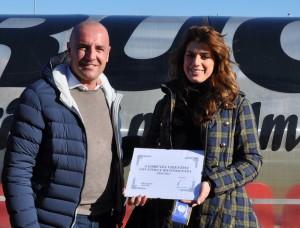 29/1/2017 Colligiana Delta Calcio Rovigo 0 - 0; La Fondazione Carobbi Ceregatti premia Lorenza Visentini DS del Rovigo