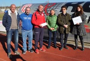 29/1/2017 Colligiana Delta Calcio Rovigo 0 - 0; donazione a favore A.S. Norcia