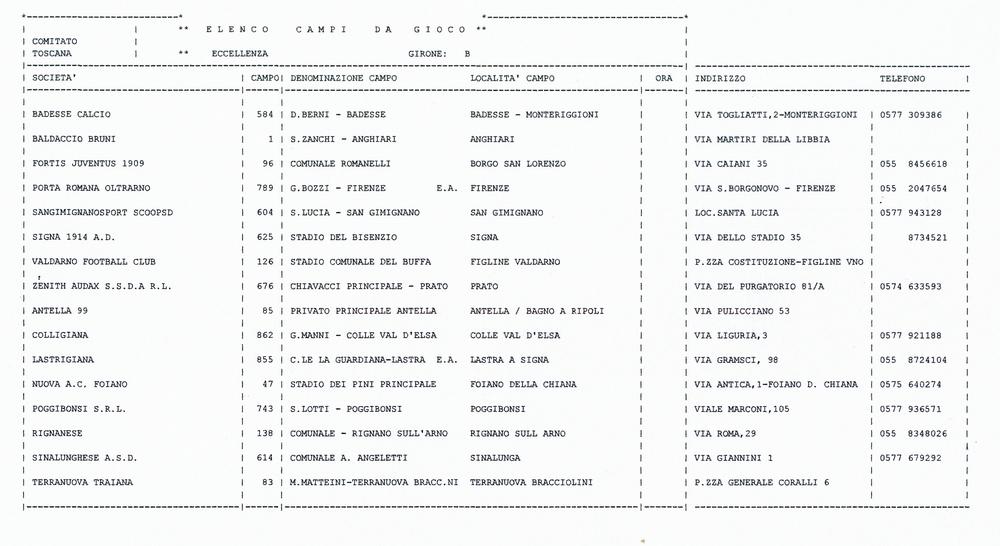 Calendario Anno 1980.Calendario Colligiana Calcio